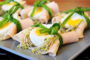 Eko-potrawa wielkanocna: Jajka w zielonych gniazdkach z sosem chrzanowym